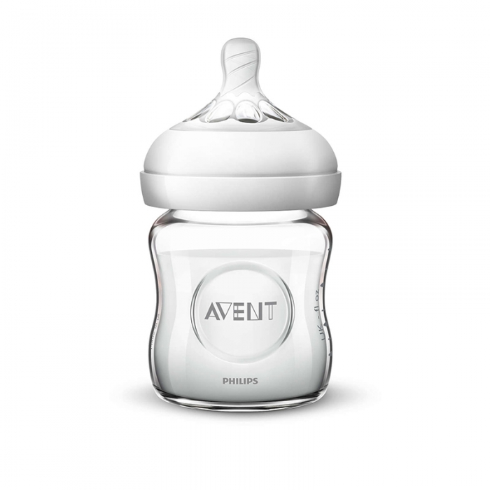 Natural glass baby bottle